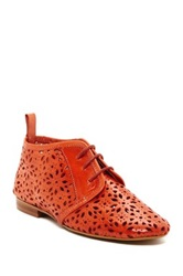 Sixtyseven Kelly Perforated Leather Bootie Orange