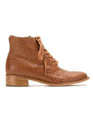 Sarah Chofakian Leather Ankle Boots Brown