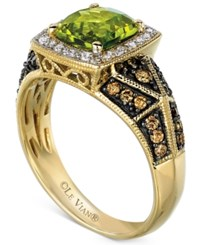 Le Vian Peridot 1 1 2 Ct. T.W. And Diamond 3 8 Ct. T.W. Ring In 14K Gold