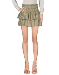 Maison Scotch Mini Skirts Military Green