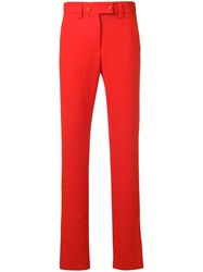 Msgm Side Stripe Detail Trousers Red