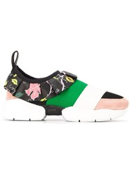 Emilio Pucci Ruffled Detail Sneakers Multicolour