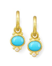 Turquoise And Diamond Earring Pendants Elizabeth Locke Turquoise Blue