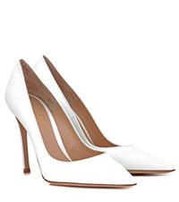 Gianvito Rossi 105 Patent Leather Pumps White