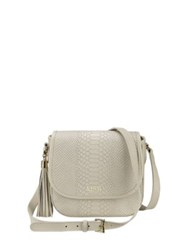 Gigi New York Personalized Embossed Python Leather Crossbody Bag Bone Navy Black