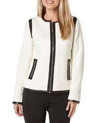 Rafaella Petites Petite Snake Effect Faux Leather Jacket