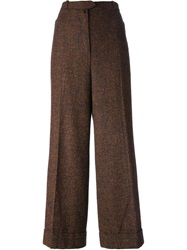 Christian Dior Vintage Wide Leg Trousers Brown