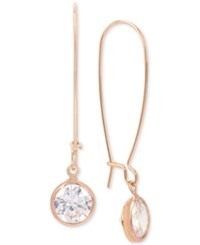 Kenneth Cole New York Rose Gold Tone Cubic Zirconia Drop Earrings Crystal