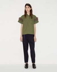 Kolor Wrap Over Trousers Navy