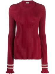 Mrz Ribbed Cut Out Jumper Red