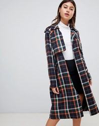 Prettylittlething Oversized Trench In Check Multi