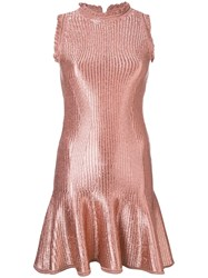 Alexander Mcqueen Flared Mini Dress Pink