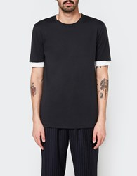 3.1 Phillip Lim Ss Double Sleeve Tee Black