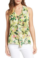 Kut From The Kloth Women's Print Ruffle Front Top