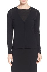 Women's Elie Tahari 'Ellison' V Neck Cardigan Black