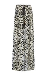 Roberto Cavalli Printed Lace Up Wide Leg Pants