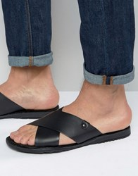 Base London Hector Leather Sandals Black