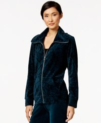 Styleandco. Style And Co. Sport Printed Zip Front Track Jacket Only At Macy's Evergreen