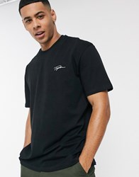 Topman T Shirt With Signature Print In Black