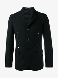 Comme Des Garcons Studded Single Breasted Blazer Black Silver White