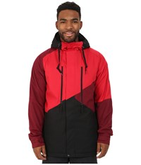 686 Authentic Arcade Insulated Jacket Cardinal Color Block Men's Coat Red