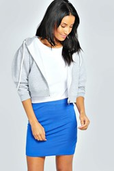 Boohoo Basic Bodycon Mini Skirt Cobalt