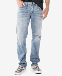 Silver Jeans Co. Men's Eddie Relaxed Athletic Fit Tapered Stretch Indigo