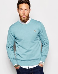 Paul Smith Jeans Jumper With Zebra Logo In Crew Neck Sky