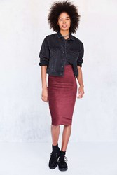 Cooperative Cordacious Zip Bodycon Midi Skirt Maroon