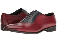 Messico Osvaldo Red Blue Leather Men's Lace Up Moc Toe Shoes