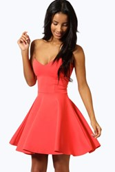 Petite Polly Bandeau Skater Dress