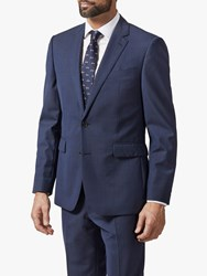 Chester Barrie By Melange Wool Travel Suit Jacket Navy