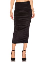 James Perse Velvet Midi Skirt Black