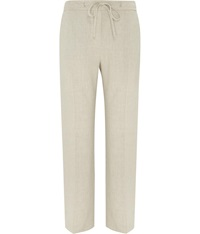 Cc Striped Linen Trousers Natural