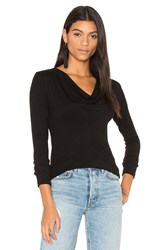 James Perse Cowl Neck Tee Black