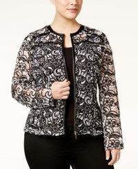 Inc International Concepts Plus Size Lace Jacket Only At Macy's Deep Black