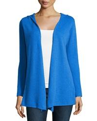 Minnie Rose Cashmere Hooded Duster Cardigan Blue Door