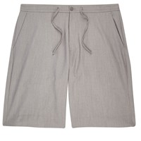River Island Mens Grey Drawstring Casual Bermuda Shorts