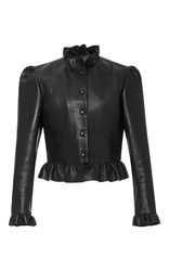 J.W.Anderson J.W. Anderson Ruffled Leather Jacket Black