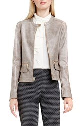 Vince Camuto Women's Faux Leather Moto Jacket