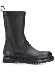 Rick Owens Ankle Zipped Boots Black
