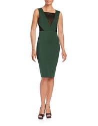 French Connection Illusion Mesh Dress Green