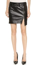 Versus Leather Miniskirt Black