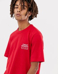Cheap Monday Boxer T Shirt In Red