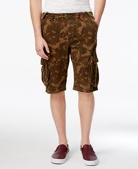 Superdry Men's Core Camouflage Cargo Shorts Green Leopard Camo