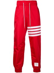 Thom Browne 4 Bar Relaxed Fit Track Pants Red