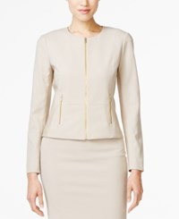 Calvin Klein Fit Solutions Zip Front Side Panel Jacket Only At Macy's Khaki