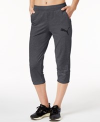Puma Elevated Cropped Sweatpants Dark Gray Heather