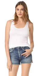 Twenty Tees Perfect Rib Tank White