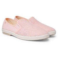 Rivieras Cotton Mesh And Canvas Espadrilles Pastel Pink